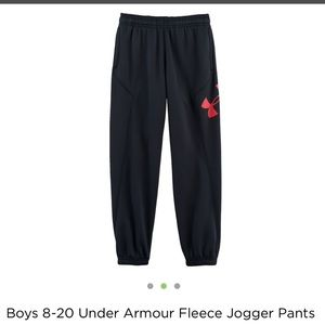 f41ce205e Under Armour Bottoms - Under Armour black & red fleece jogger pants SMALL